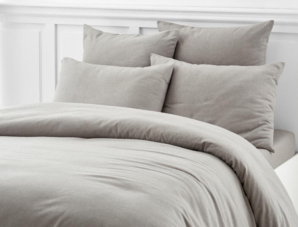 Flanelle Parure de lit thermique Literie 100/% Coton Brossé Taie d/'oreiller
